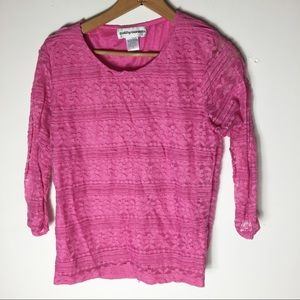 Cathy Daniels Pink Lace Stretch Romantic Soft Top